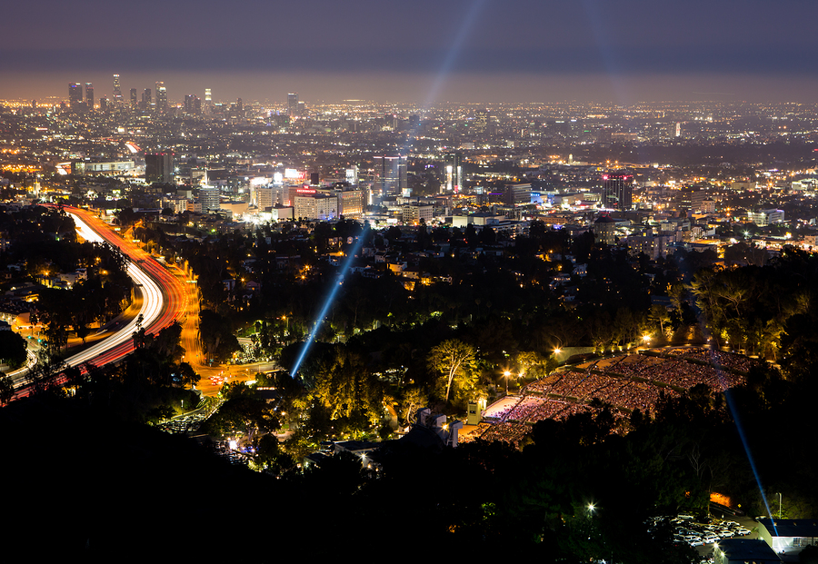 View over LA skyline