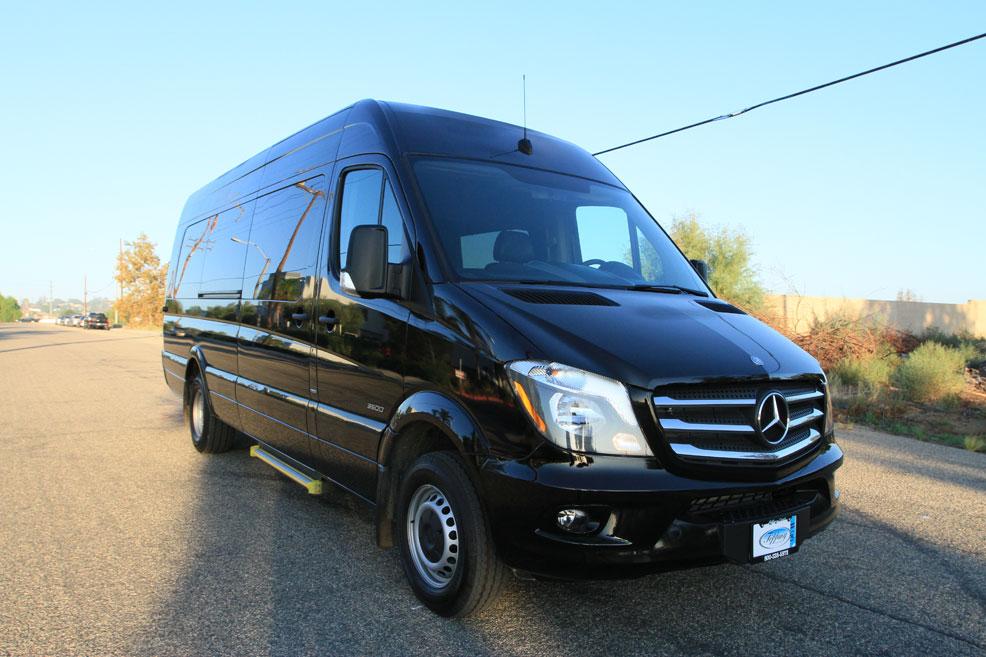 Hello Mercedes-Benz Sprinter - LA Private Car Service
