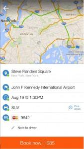LA Private Mobile app map
