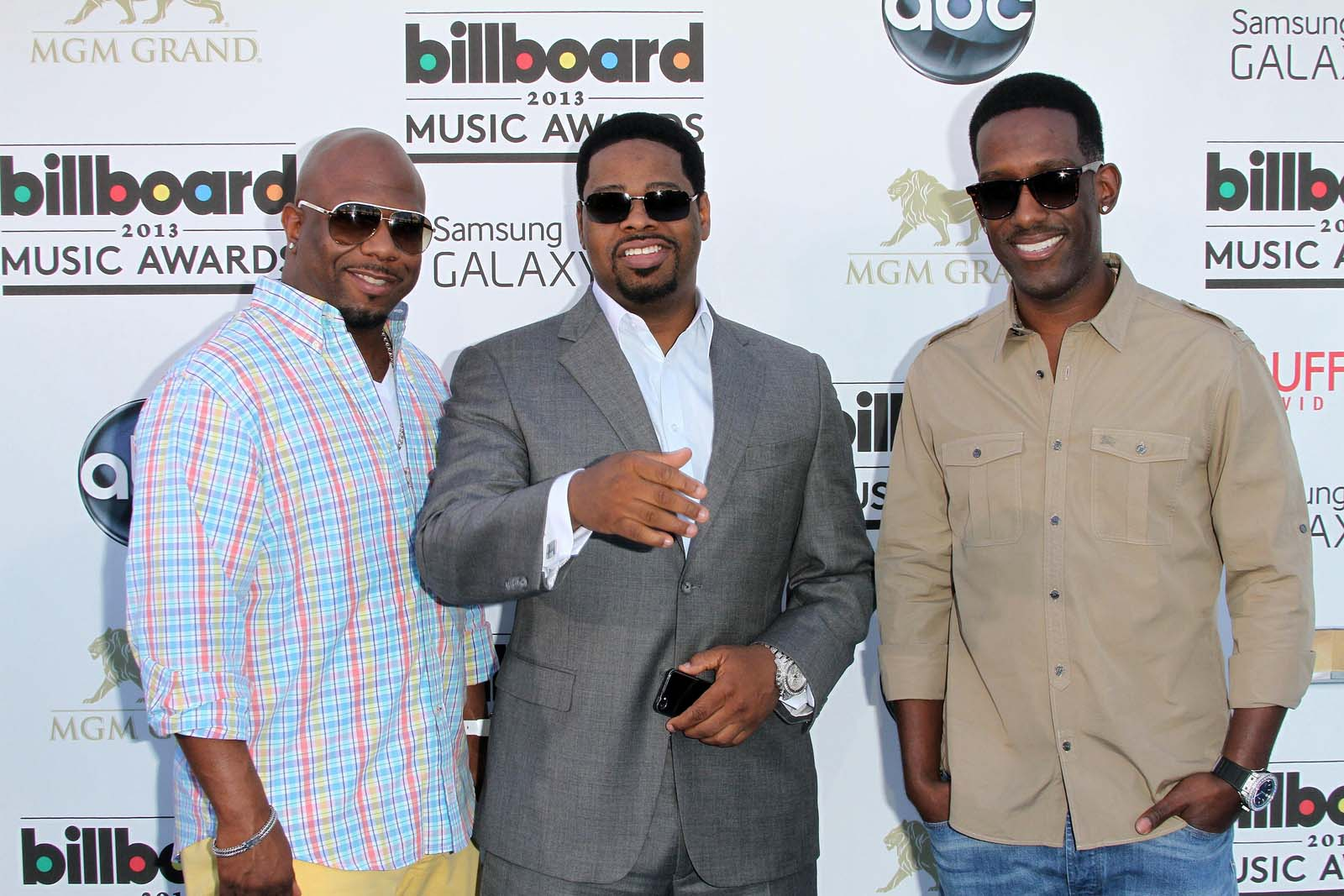 Boyz II Men on the red carpet, during Billboard Music Awards Arrivals, MGM Grand, Las Vegas, 2013